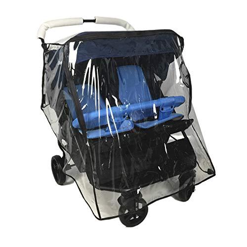 Ezkindheit Parapioggia universale per passeggino doppio / Carrozzina parapolvere antipioggia / accessori per carrozzine