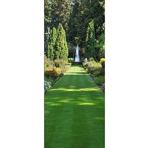 PANDABOOM 3D Türaufkleber Garten Brunnen Wandbild Tapete Wandaufkleber Aufkleber Dekoration Selbstklebend 77X200Cm