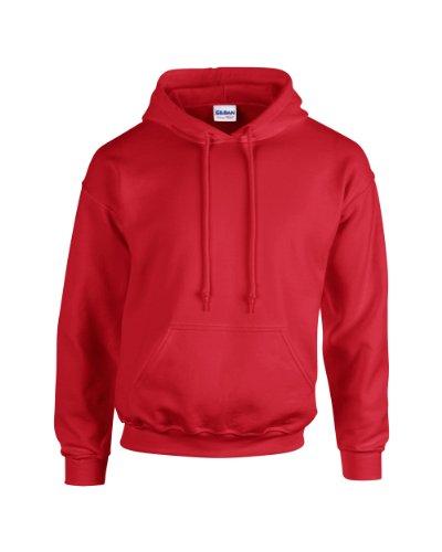 Gildan Heavy Blend Erwachsenen Kapuzen-Sweatshirt 18500 Red XL