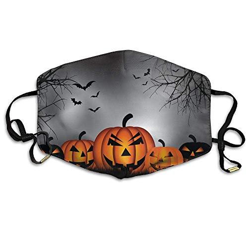 Daawqee Staubschutzmasken, Earloop Face Mouth Masks Dustproof Anti-flu Warm Dust Mask Washable Women Halloween Lettering