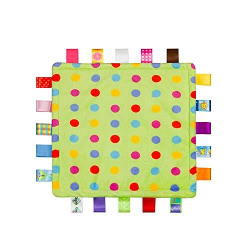 Bébé Tag Couverture de sécurité - Soft Touch en peluche colorée de sécurité Couverture de sécurité confortable, une couverture de sécurité Jouet meilleur cadeau pour bébé, enfant en bas âge, enfant