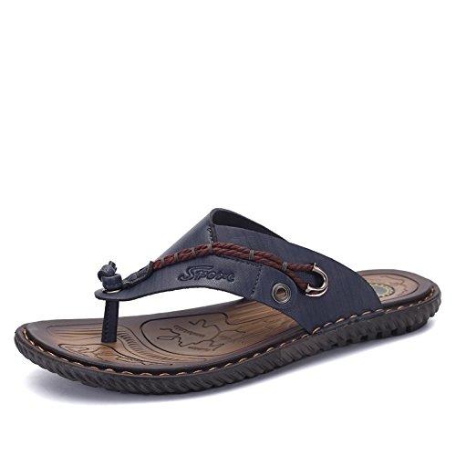 Tongs, Les Hommes, Non Glissants, Version Coréenne, Pointe Les Sandales, Les Hommes Est Cool Mop, Les Chaussures De Plage Deep blue
