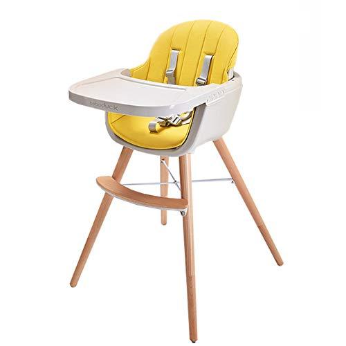 Essstuhl für Babys und Kleinkinder Moderner Hochstuhl mit Kissen - herausnehmbares Tablett und verstellbare Beine (ab 6 Monaten) -