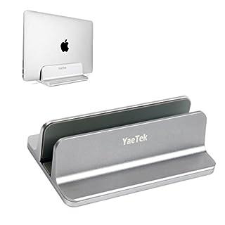 YaeKoo Vertikaler Laptop-Ständer, Desktop-platzsparender Laptophalter mit verstellbarer Dock-Größe für alle MacBook Pro / Air-Modelle von Microsoft, Lenovo Dell, Acer, Acer, Asus, XPS, Sony HP (Grau)