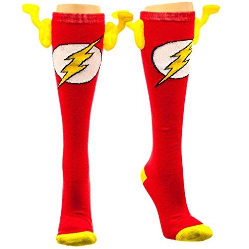 Official Dc Comics Flash Calze Al Ginocchio con Ali - The Flash Supereroe Calzini