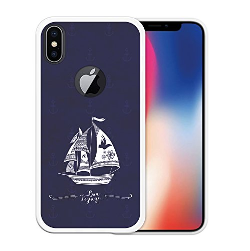 iPhone X Hülle, WoowCase Handyhülle Silikon für [ iPhone X ] Alien Warning Handytasche Handy Cover Case Schutzhülle Flexible TPU - Transparent Housse Gel iPhone X Transparent D0194