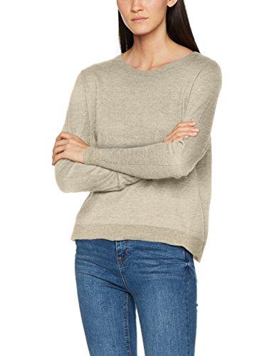 ESPRIT Damen Pullover 087EE1I013 Grau (Light Grey 5 044), Medium
