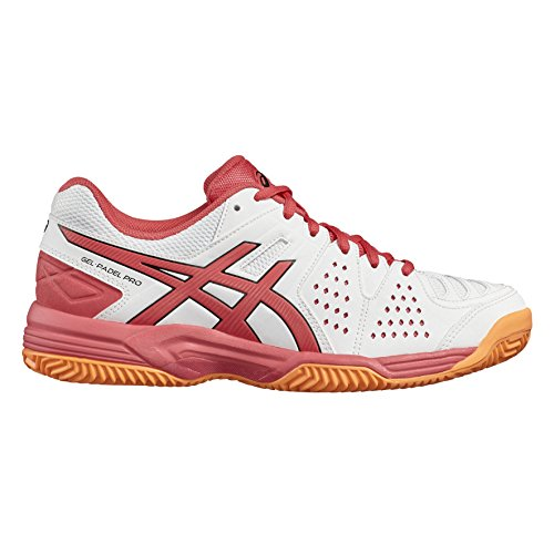 Asics Gel-Padel Pro 3 Sg, Scarpe da Ginnastica Donna Bianco (White/Rouge Red/Flash Coral)