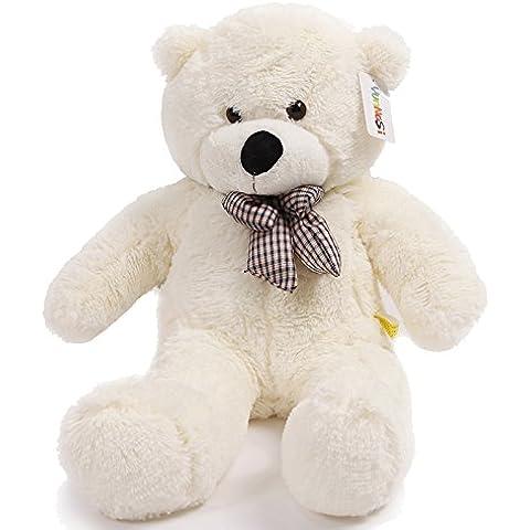 YunNasi Teddy oso gigante de peluche juguete de felpa 100 cm blanco
