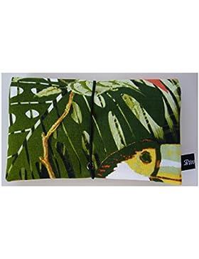 Büroteuse Tabaktasche / Drehertasche im Green-Bird-Design, jede Tasche ein Unikat!