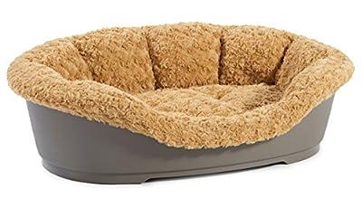 Soft N Snug Deluxe Fleece Insert To Fit 95cm Hard Dog Bed Dog Puppy Pet Mocha Basket Cover
