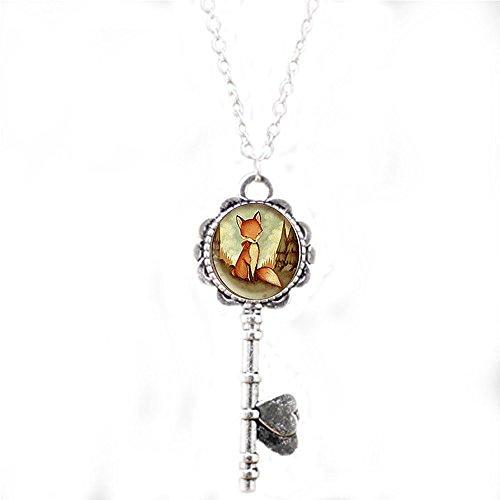 qws Schlüsselanhänger, Fuchskette mit rotem Fuchs, Schlüsselanhänger, einzigartiges Geschenk für jeden Tag