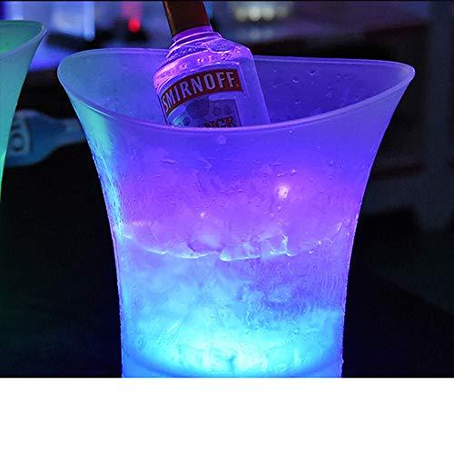 GJXY Beleuchtete LED-Farbänderung Party EIS Eimer Perfekt für Wein und Champagner-Änderungen 7 Farben-5L,5L