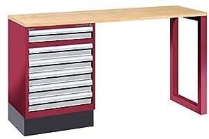 werkbank d atelier 6 schubladen l nge 160 cm kraftwerk baumarkt. Black Bedroom Furniture Sets. Home Design Ideas