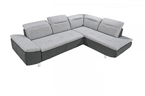 Dreams4Home Ecksofa 'Side' - Ecksofa, Couch, L-Form, Recamiere rechts oder links, Rückenlehne einzeln verstellbar, Sofa, Wohnzimmer, Polstergarnitur,...