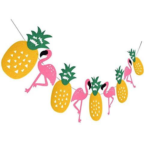 Beito Kreative Flamingo Ananas-Banner Wimpelkette Party-Dekoration Tropische Hawaiian Luau Motto Party Supplies