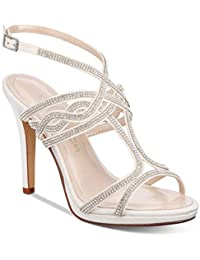 8c702fdc4a34 Caparros Womens Heather Open Toe Bridal Slingback Sandals