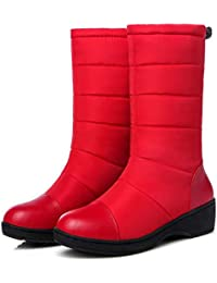 a15f871006fb SHANGXIAN Winter Schneestiefel Student Daunen Baumwolle Schuhe Damen  Verdickt Wasserdicht und Kaschmir Warm Eben Baumwolle Stiefel