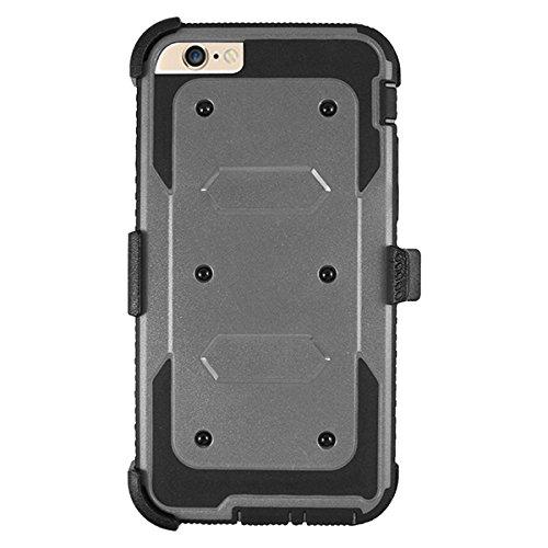iPhone 6/6S TPU Hülle Case,Tangspower Displayschutzfolie Hybrid Schutzhülle Stoßfest Schale Rüstung Taschen Etui mit Ständer für Apple 6/6S 4.7 Zoll Blau grau