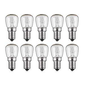 10x Backofenlampe | 15W | E14 | 230V | 2200 K | warm-weiß | Birne Lampe Glühbirne Glühlampe Leuchtmittel für Backofen Backofenglühbirne | warmweiß | 10 Stück