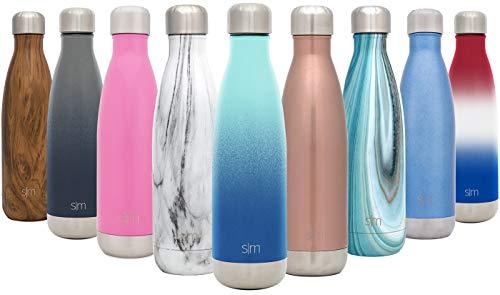 Simple Modern 750ml Wave Wasserflasche - Trinkflasche Vakuum Isolierte Doppelwandige 18/8 Edelstahl - Hydro Camelbak Swell Bottle - Reisebecher, Flasche, Sporttrinkflasche - Pazifischer Traum