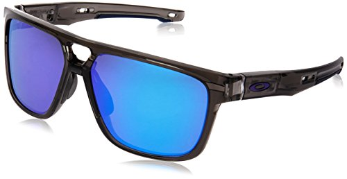 Oakley Herren Crossrange Patch 938202 60 Sonnenbrille, Grau (Grey Smoke/Violetiridium),