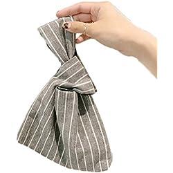 Bolso plegable de muñeca para mujer LAAT para guardar monedas, cartera, tarjetas, etc. a rayas 21*17*5