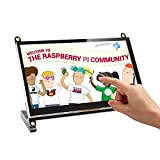 [Aktualisierte Version] 7 Zoll Kapazitiver Touchscreen Portable Monitor UPERFECT 1024 x 600 HDMI Port Eingebaute Lautsprecher Display für Raspberry Pi A B A + B + 2B 3B 3B +/Raspbian/Kali/Ubuntu Mate