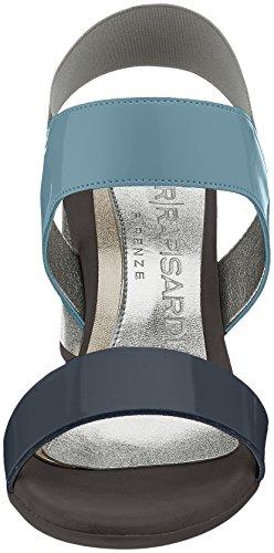 NR RAPISARDI Damen Wizzy Slingback Sandalen Blau (Navy/Blue Ecopatent)