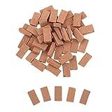 MagiDeal 35pcs 1/16 Skala Backstein Dachziegel für Stein Baukasten, Größe: 1,1x0,6cm