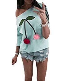 c7634c9e68bf AILIENT Langarmshirt Stitch Plüschball Damen Schöne Oberteile Elegant  Langarm Rundhals Pullover Casual Tops T-shirt