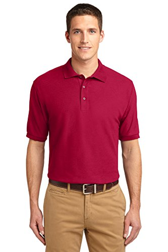 Port Authority Polo (Port Authority Men's Extended Size Silk Touch Polo 7XL Red)