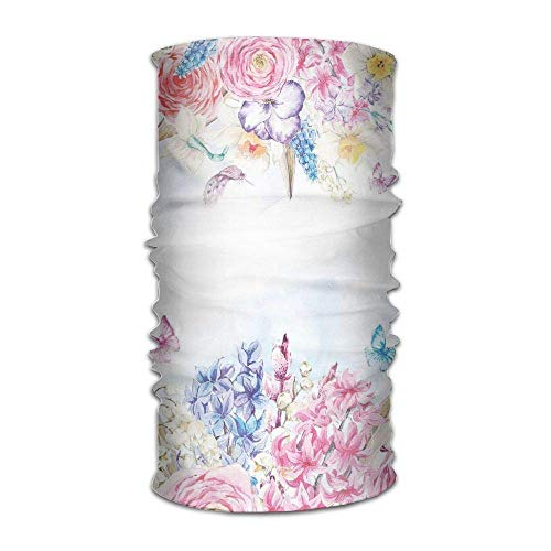 Women Men Turban Romantic Garden Roses Flowers Daisies Leaves Hip Hop Kerchief -