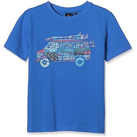 Rip Curl Van SS Tee - Camiseta para niño, color azul, talla 12