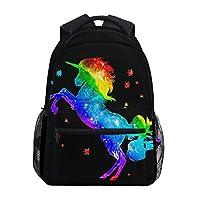 Hunihuni Galaxy Unicorn Durable Backpack College School Book Shoulder Bag Daypack for Boys Girls Man Woman (unicorn5)