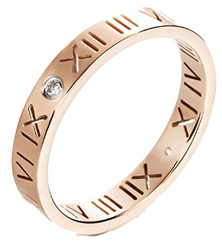 SaySure - Austria Crystal Rose Gold Plated Vintage Rings (SIZE : 5) (Ring Crown Vintage Design Fashion)