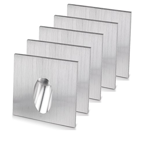 LED Einbaustrahler Wand Lampe eckig LED Einbauleuchte Schritt Treppen Lampe Veranda Wegeleuchte 1 W Keller Leuchtmittel AC 100–245V (Warm Weiß, 5 Pack)