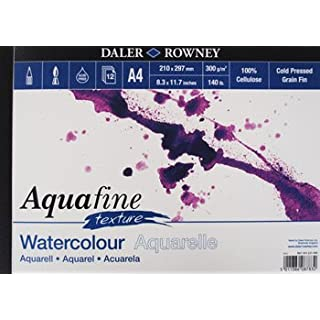Daler Rowney Aquafine aquarelle artists watercolour TEXTURE pad A4 cold pressed