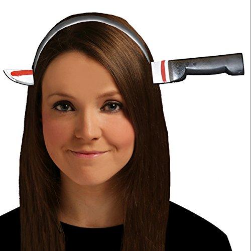 BLOODY Messer durch Kopf Halloween Haarband