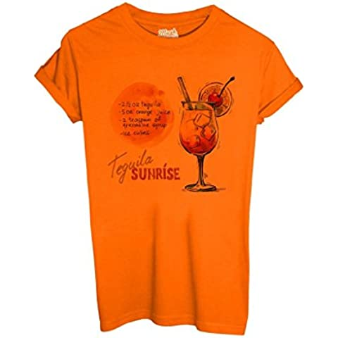 T-Shirt TEQUILA SUNRISE COCKTAIL - MUSH by MUSH Dress Your Style - Bambino-XL-ARANCIONE