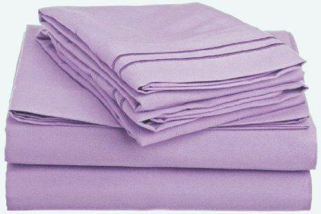 """Bedding-Dreamz, 200 fili per letto matrimoniale, composto da tasca 38,10 (15"""") cm) in Euro: grande, profumo: lavanda/lilla, singolo, 100% cotone egiziano"""