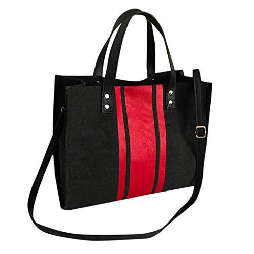 Anliyou Taschen Multifunktional Shopper Damen Groß gestreift Umhängetasche Handtasche Segeltasche Stofftasche aus Canvas Schultertasche Tragetasche Nachhaltig Laptoptasche Notebooktasche