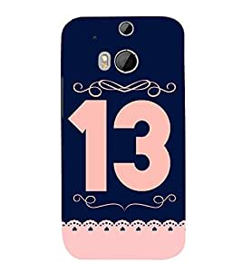 PrintVisa Lucky Number 13 3D Hard Polycarbonate Designer Back Case Cover for HTC One M8 :: HTC M8 :: HTC One M8 Eye :: HTC One M8 Dual Sim :: HTC One M8s