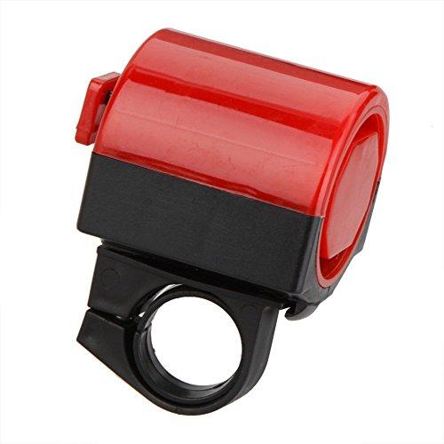 SODIAL(R)Fahrrad-Zubehoer Fahrrad elektronische Klingel MTB Rennrad laute Alarm Hupe Radfahren Hupe Siren 360 Grad Drehung rot - Für China Verpackungsmaterial