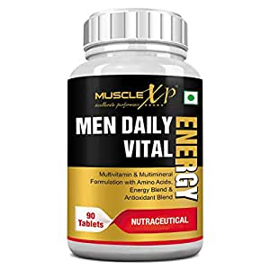 MuscleXP Men Daily Vital Energy With Multivitamins, Multiminerals and Energy Blend - 90 Tablets