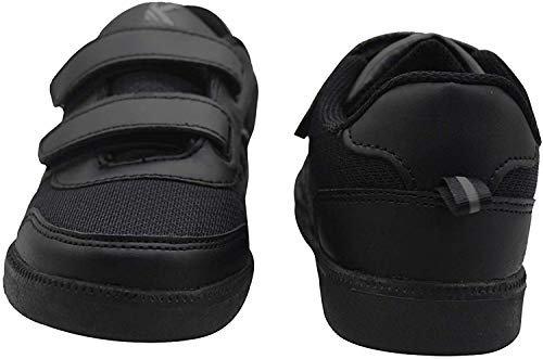 SKUDO KazarMax Boy's & Girl's (Unisex) with Superlight Weight Black School Shoes (Made in India) (9C IND/UK - 27 EUR)