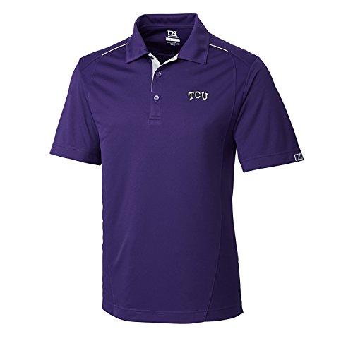 Cutter & Buck NCAA Herren FOSS Hybrid Poloshirt, Herren, NCAA Men's CB Dry Tec FOSS Hybrid Polo, College Purple, X-Large