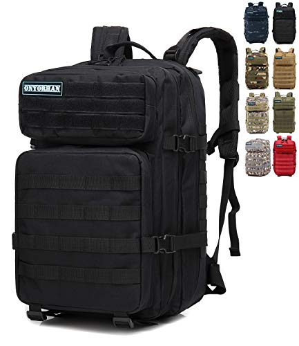 onyorhan Mochila Táctica Militar Molle Camuflaje Assault Pack Tactical Army Backpack / 40L (Negro)