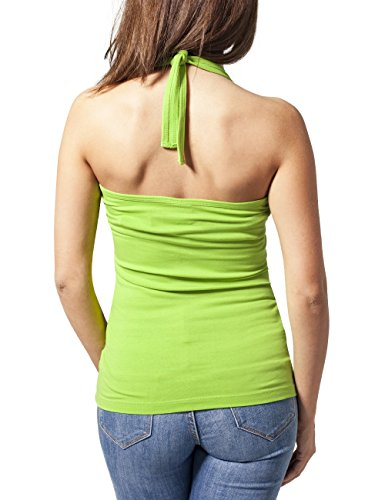 Urban Classics Damen Top Ladies Neckholder Shirt Grün (limegreen 146)