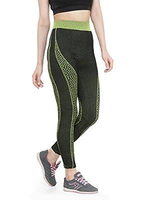 CAMEY Women's Cotton Leggings (LT55_NEW.GREEN, Black, Free Size)